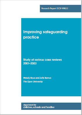 Study of Serious Case Review - 2001-2003