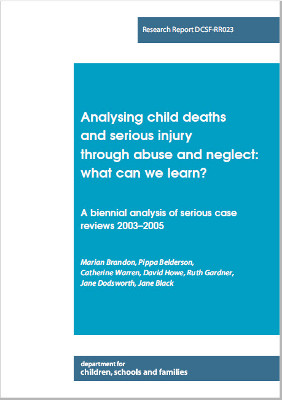 A biennial analysis of Serious Case reviews - 2003-2005