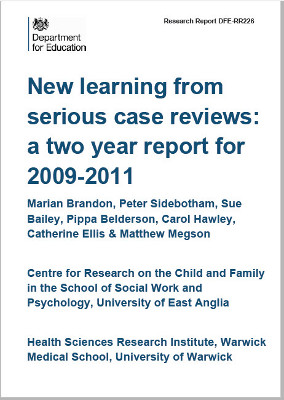 New Learning from Serous Case Reviews - 2009-2011